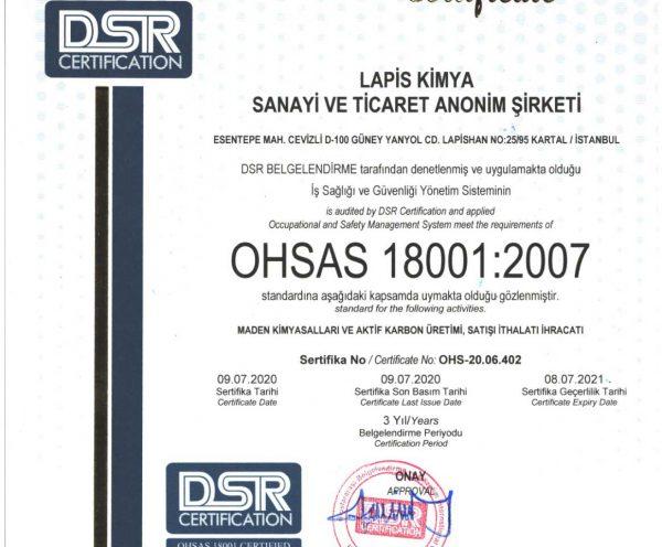 Sertifika-OHSAS